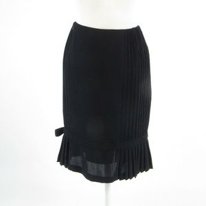 Black color 100% wool CARLISLE pencil skirt size 2